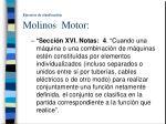 ejercicio de clasificaci n molinos motor