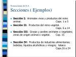 nomenclatura del s a secciones ejemplos