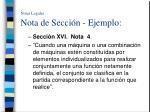 notas legales nota de secci n ejemplo