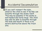 accidental decannulation26