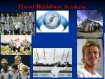 david beckham academy