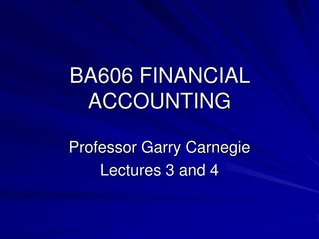 ba606 financial accounting l.