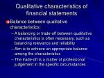 qualitative characteristics of financial statements10