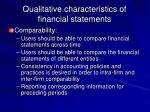 qualitative characteristics of financial statements9