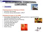 developmental conditional component