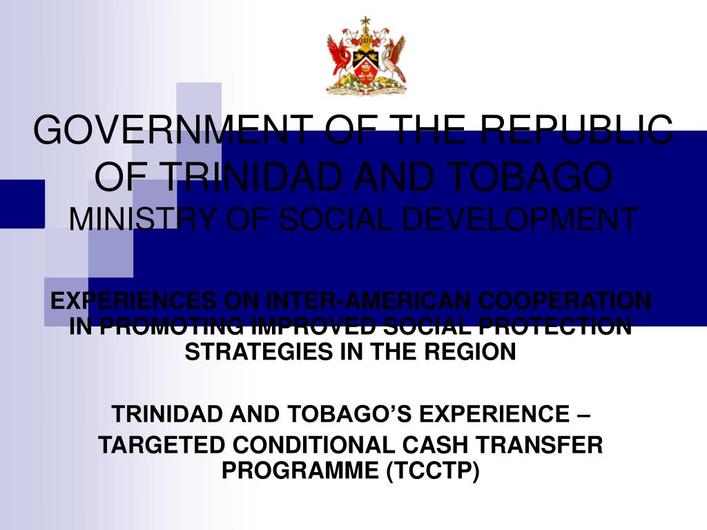 government of the republic of trinidad and tobago ministry of social development l.