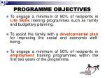 programme objectives12