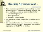 reaching agreement cont