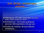 arts design architecture notariat