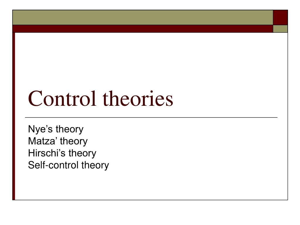 control theories l.