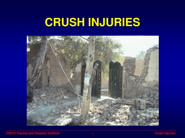 Crush injuries