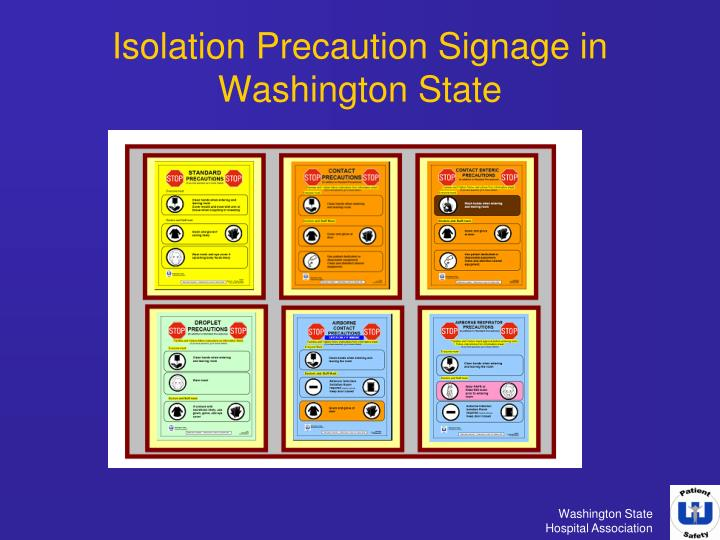 isolation precaution signage in washington state n.
