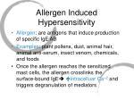 allergen induced hypersensitivity