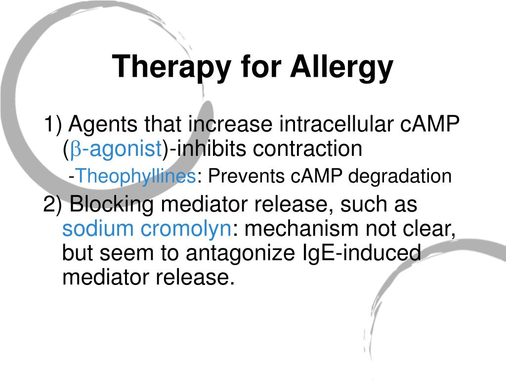 Therapy for Allergy