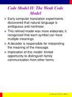 code model ii the weak code model