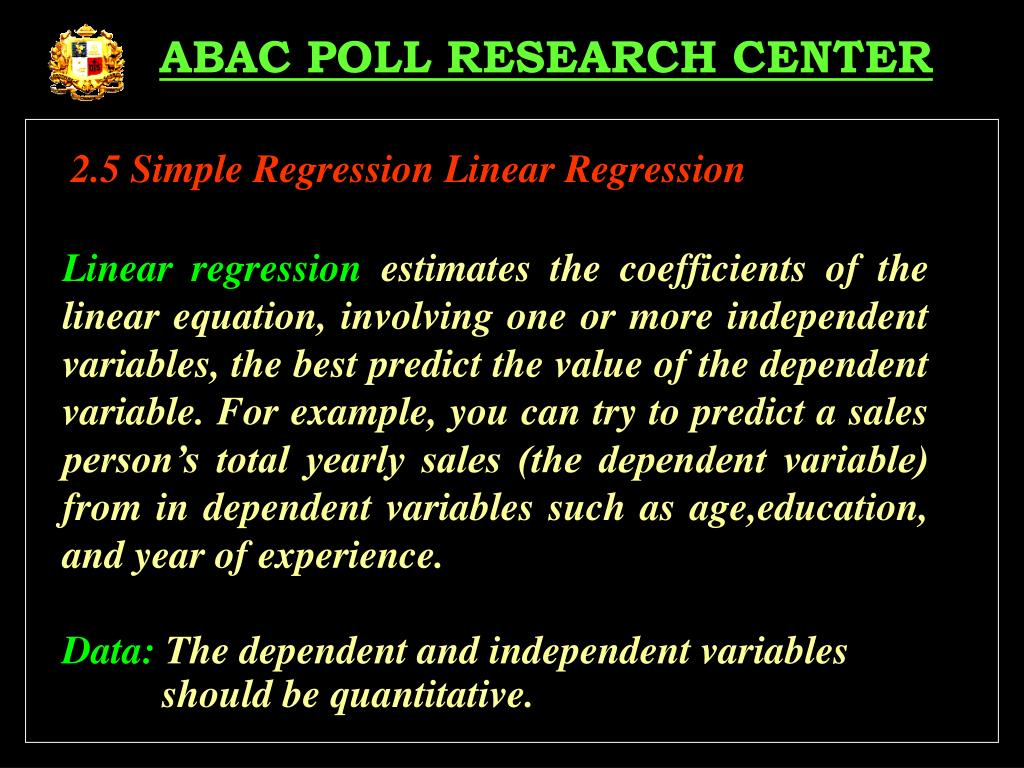 ABAC POLL RESEARCH CENTER