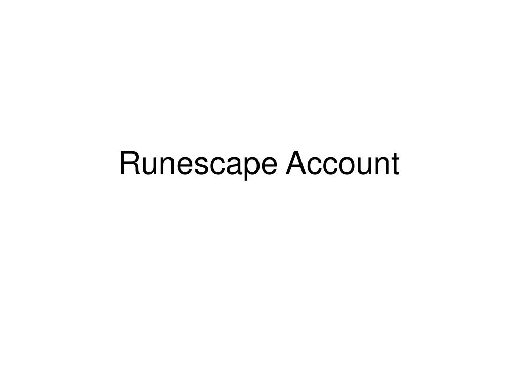 runescape account l.