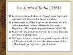 la storia d italia 1561