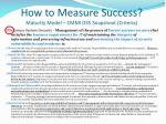 how to measure success maturity model cmmi ds5 snapshoot criteria