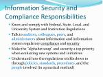 information security and compliance responsibilities