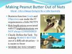making peanut butter out of nuts moral life is always going to be a little squirrelly