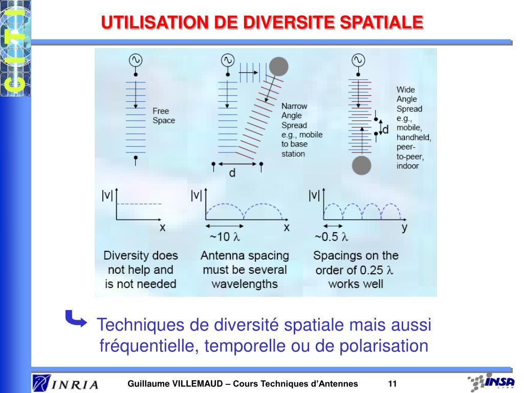 UTILISATION DE DIVERSITE SPATIALE