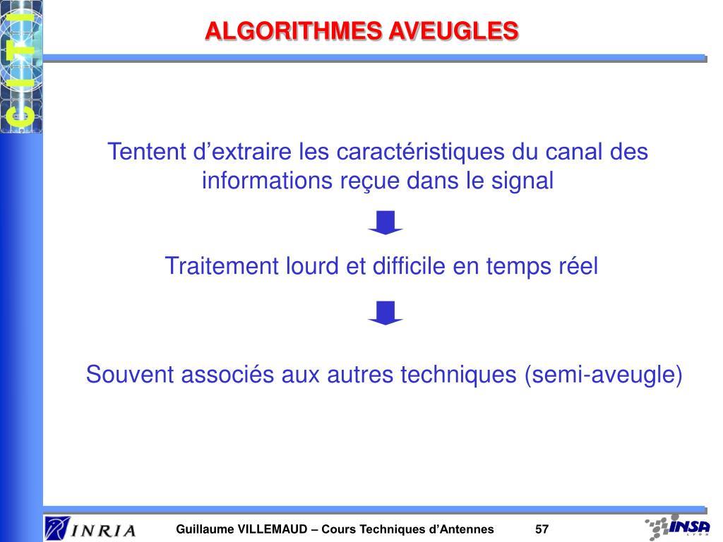 ALGORITHMES AVEUGLES