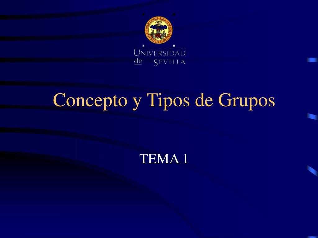 concepto y tipos de grupos l.