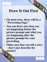 draw it out first