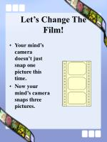 let s change the film