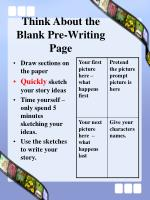 think about the blank pre writing page