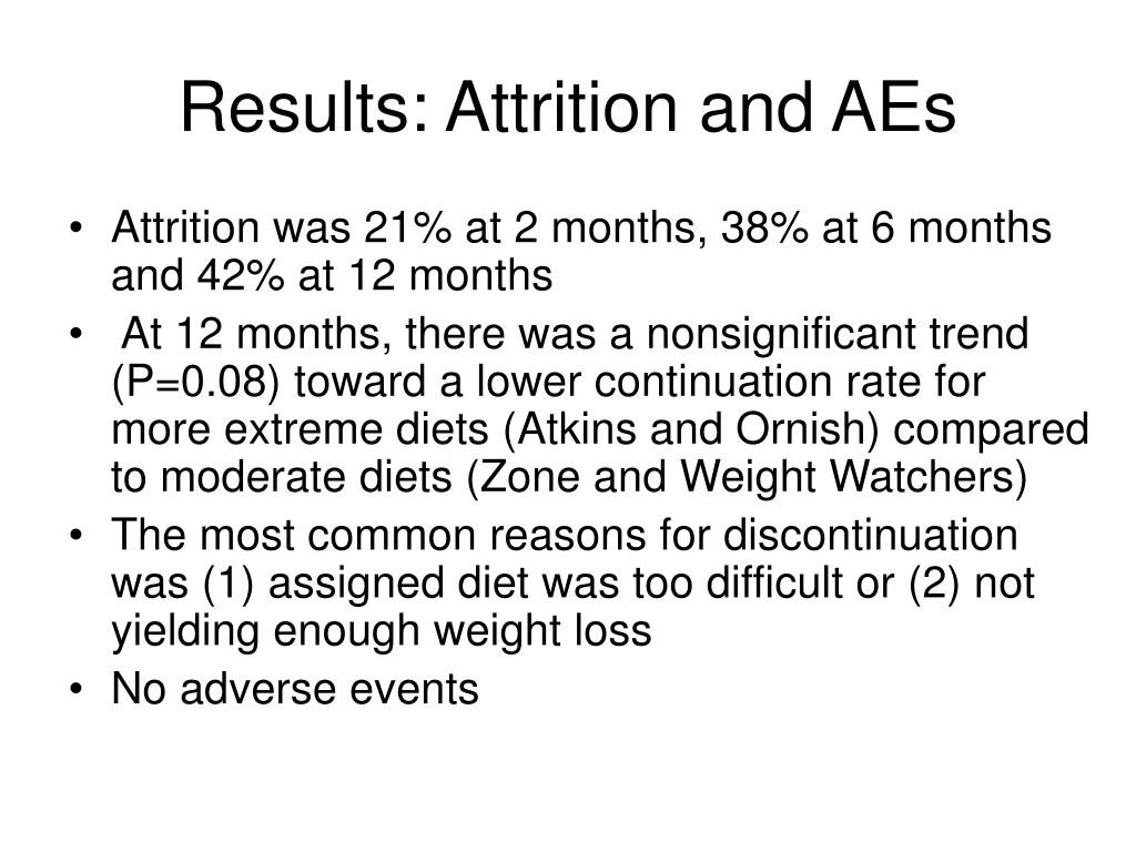 Results: Attrition and AEs