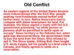 old conflict