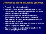 community based insurance schemes