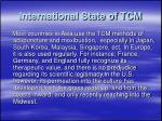 international state of tcm