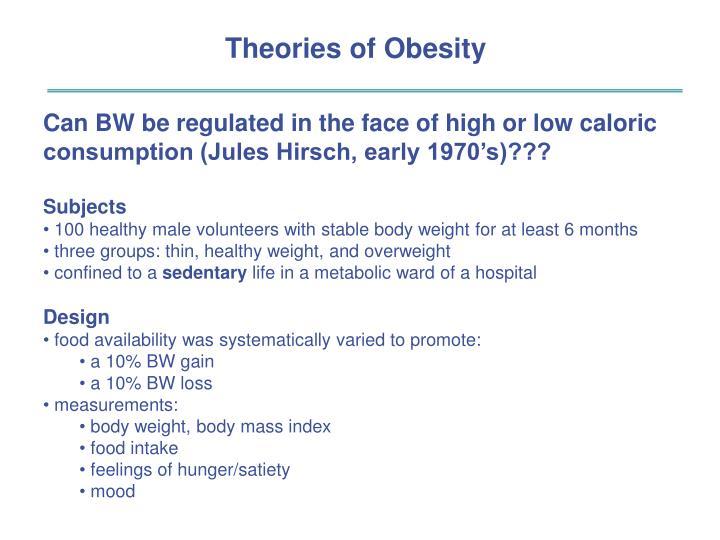 Theories of Obesity