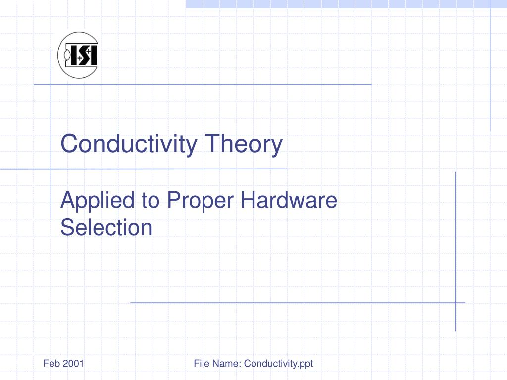 conductivity theory l.
