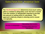 sales force size analytical tools32