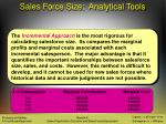 sales force size analytical tools33