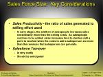 sales force size key considerations