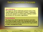 sales organization concepts