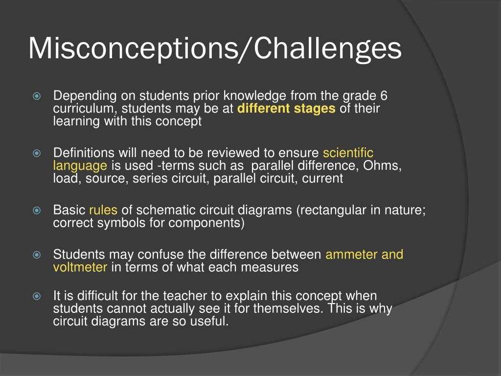 Misconceptions/Challenges