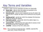 key terms and variables