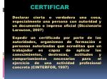 certificar