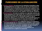 funciones de la evaluaci n