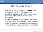 the supply curve10
