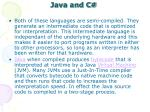 java and c