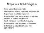 steps in a tqm program
