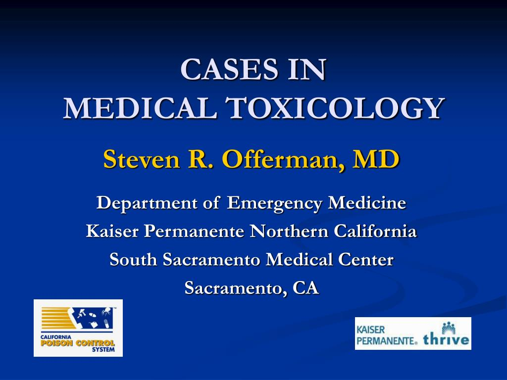 cases in medical toxicology l.