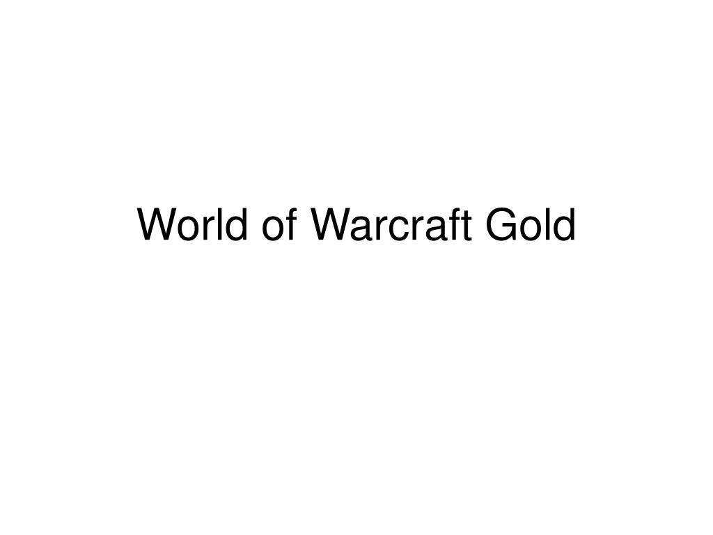 world of warcraft gold l.